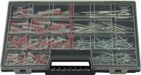 Fischer DuoPower Dübel Sortiment 395 TEILIG, 5 6 8 10mm + Torx Schrauben in NOR12 Sortierkasten