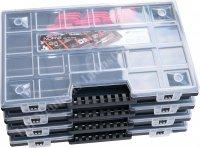 Sortierkasten NOR12 schwarz mit roten Trennern
