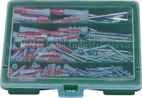 235-tlg Sortimentskasten grün mit Fischer DUOPOWER Dübel 50 Stück 5x25, 40 Stück 6x30, 18Stück 8x40, 9 Stück 10x50 + Fischer ClassicFast Senkkopf-Schrauben mit Torx Antrieb