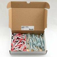 700 tlg Schrauben-Dübel Sortiment mit Bits in Kartons
