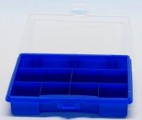 Sortierkasten unI 1 blau mit 7 festen Facheinteilungen...